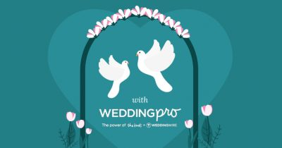 Graphic to doves and wedding arch with WeddingPro